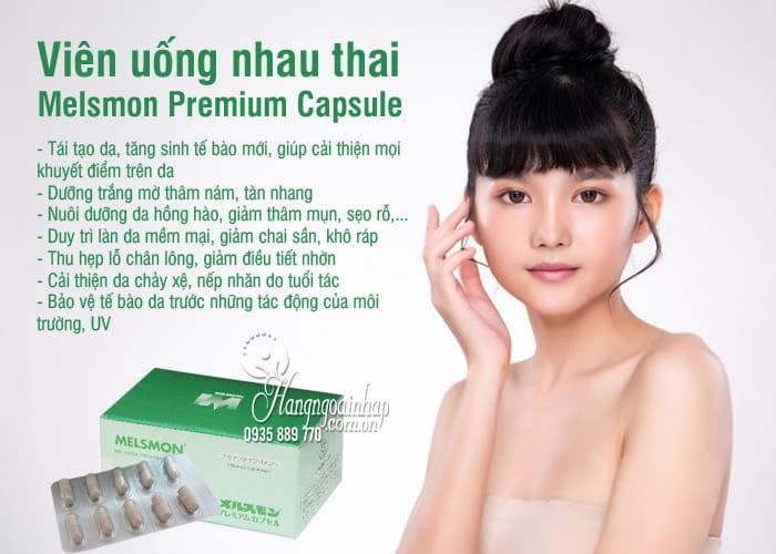 Viên uống nhau thai Melsmon Premium Capsule Nhật 120 viên 2