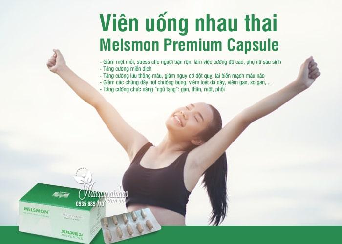 Viên uống nhau thai Melsmon Premium Capsule Nhật 120 viên 7