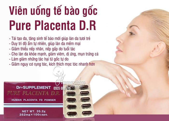 Viên uống tế bào gốc Pure Placenta D.R 100 viên Nhật Bản 1