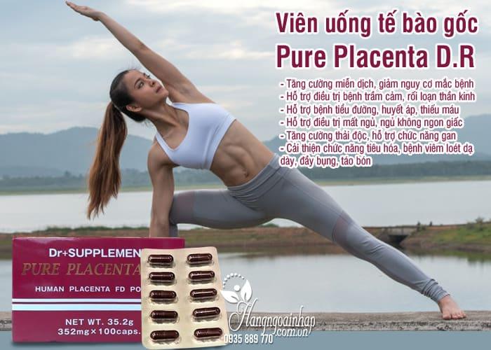 Viên uống tế bào gốc Pure Placenta D.R 100 viên Nhật Bản 5