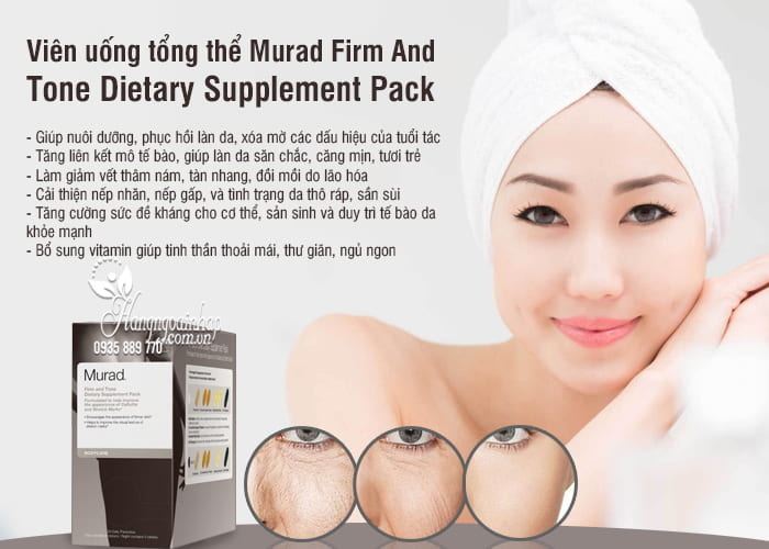 Viên uống tổng thể Murad Firm And Tone Dietary Supplement Pack 3