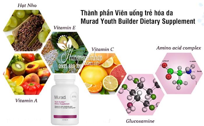 Viên uống trẻ hóa da Murad Youth Builder Dietary Supplement 120 viên 5