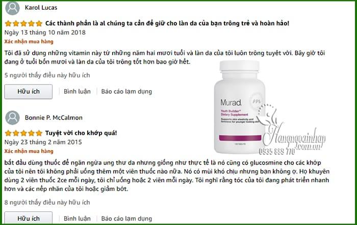 Viên uống trẻ hóa da Murad Youth Builder Dietary Supplement 120 viên 3