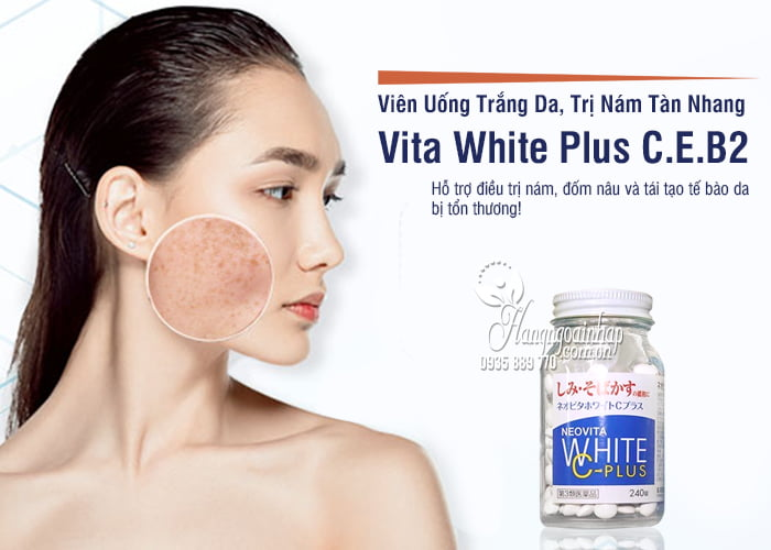 Vita White Plus C.E.B2 - Viên Uống Trắng Da, Trị Nám Tàn Nhang 1