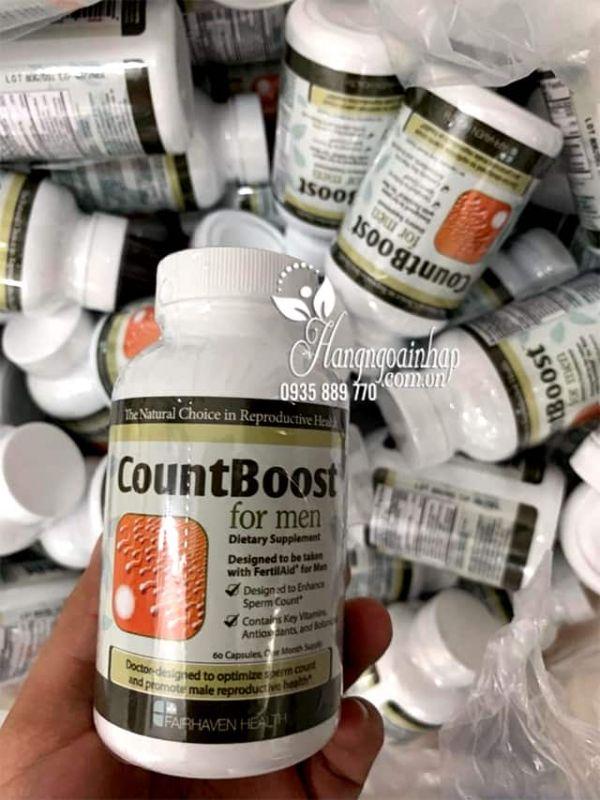 CountBoost For Men 60v tăng số lượng, chất lượng tinh trùng 4