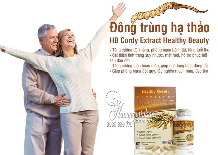 Đông trùng hạ thảo HB Cordy Extract Healthy Beauty 60 viên Mỹ 7
