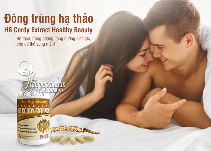 Đông trùng hạ thảo HB Cordy Extract Healthy Beauty 60 viên Mỹ 1