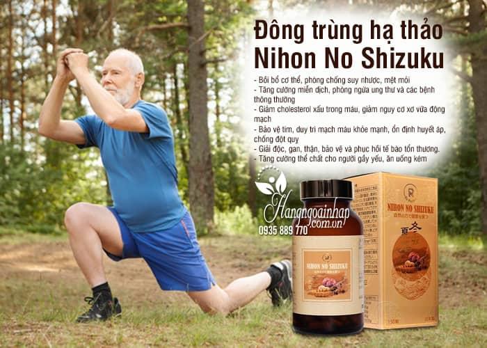 Đông trùng hạ thảo Nihon No Shizuku 150 viên Nhật Bản 6