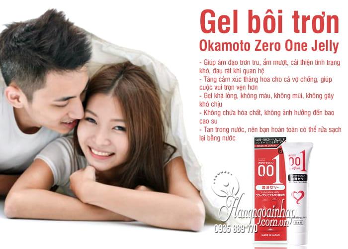 Gel bôi trơn Okamoto Zero One Jelly 50g an toàn của Nhật 3