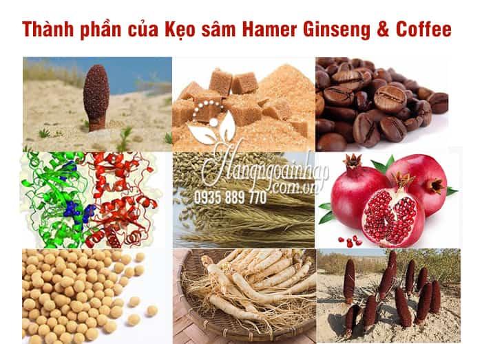 Kẹo sâm Hamer Ginseng & Coffee chính hãng Malaysia Hộp 30 cái 3