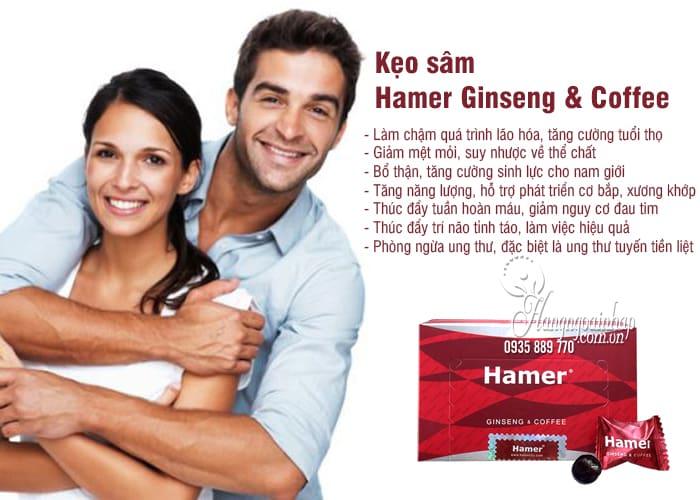 Kẹo sâm Hamer Ginseng & Coffee chính hãng Malaysia Hộp 30 cái 2