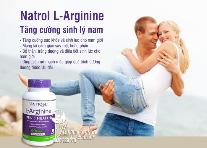 Natrol L-Arginine 3000mg 90 viên của Mỹ-Tăng cường sinh lý nam giới 4