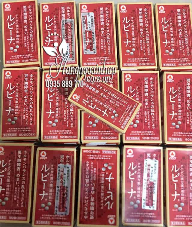 Viên bổ máu Rubina Nhật Bản hộp 180 viên chính hãng 8
