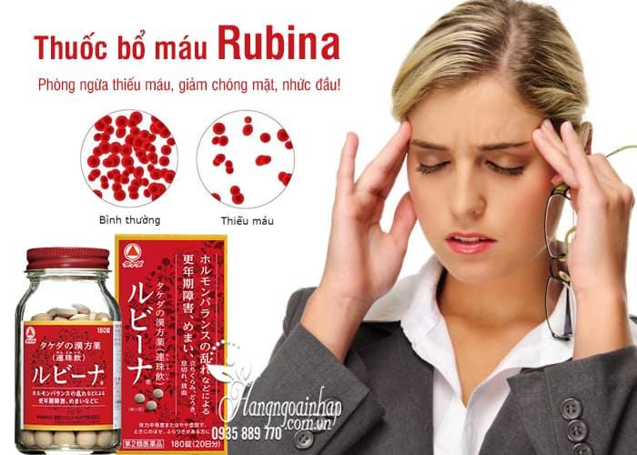 Viên bổ máu Rubina Nhật Bản hộp 180 viên chính hãng 1
