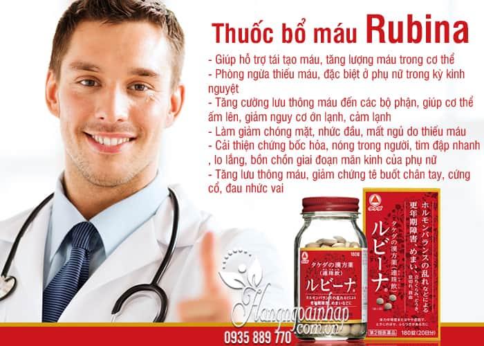 Viên bổ máu Rubina Nhật Bản hộp 180 viên chính hãng 5