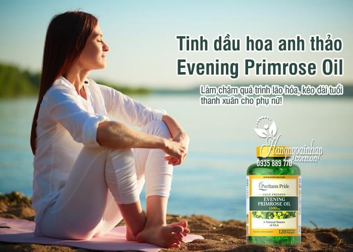 Tinh dầu hoa anh thảo Evening Primrose Oil 1300mg Mỹ 1