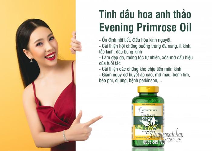 Tinh dầu hoa anh thảo Evening Primrose Oil 1300mg Mỹ 2