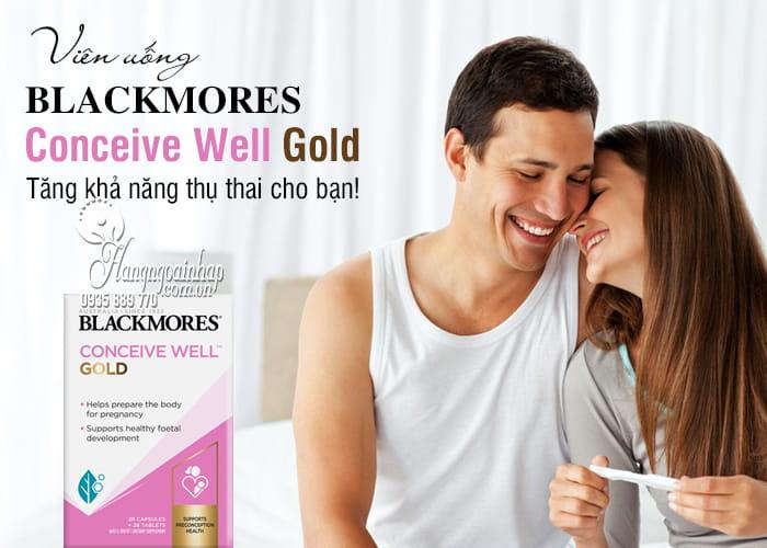 Viên uống Blackmores Conceive Well Gold 56 viên của Úc mẫu mới 3