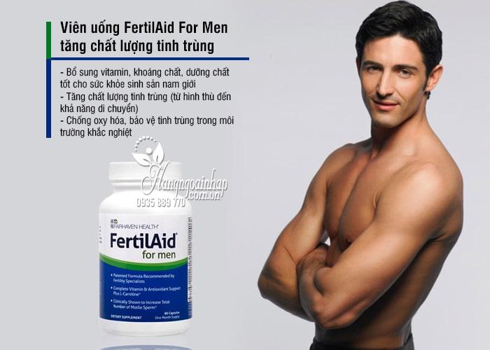 Viên uống FertilAid For Men tăng chất lượng tinh trùng 90 viên 7