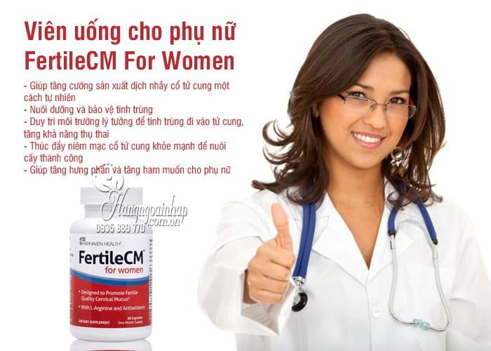 Viên uống FertileCM For Women 90 viên cho phụ nữ 8