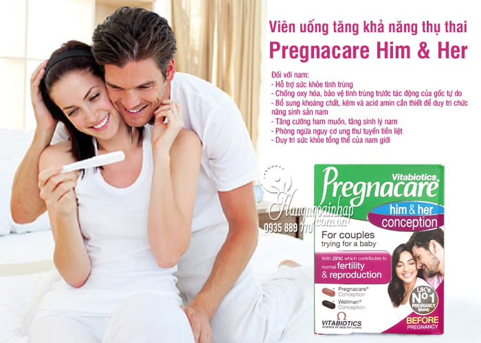 Viên uống tăng khả năng thụ thai Pregnacare Him & Her 60v 1