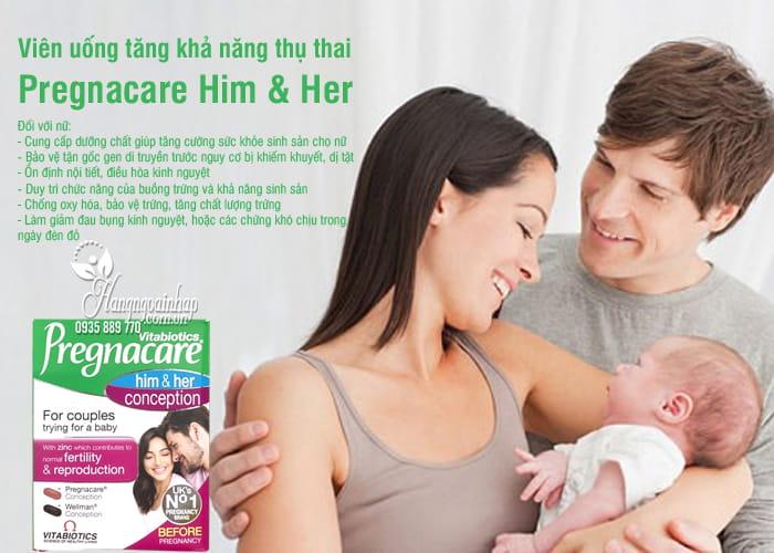Viên uống tăng khả năng thụ thai Pregnacare Him & Her 60v 4