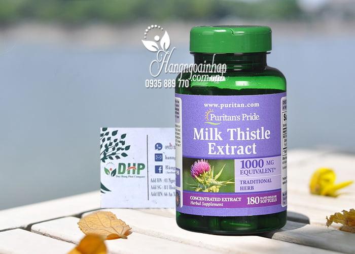 Thuốc bổ gan Milk Thistle Extract Puritan's Pride 1000 mg 180 viên của Mỹ 5
