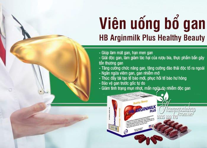 Viên uống bổ gan HB Arginmilk Plus Healthy Beauty 60 viên 00