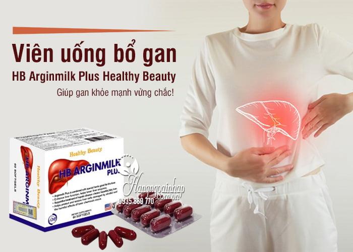 Viên uống bổ gan HB Arginmilk Plus Healthy Beauty 60 viên 2
