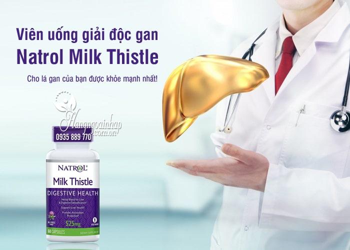 Viên uống giải độc gan Natrol Milk Thistle 525mg của Mỹ 9
