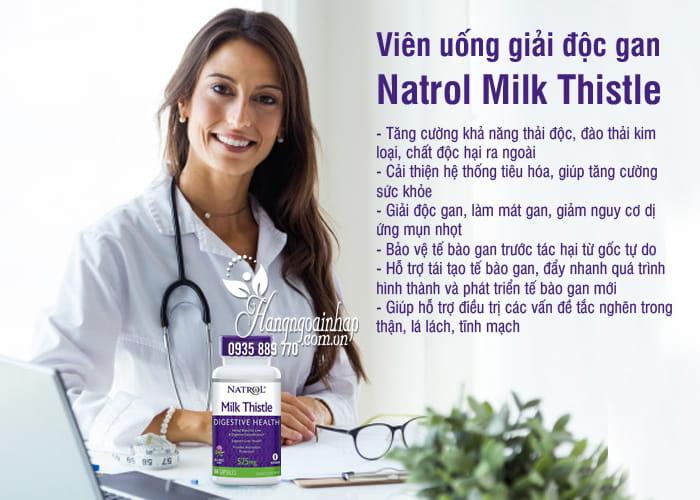Viên uống giải độc gan Natrol Milk Thistle 525mg của Mỹ 4