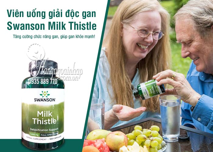 Viên uống giải độc gan Swanson Milk Thistle 1000mg của Mỹ 9