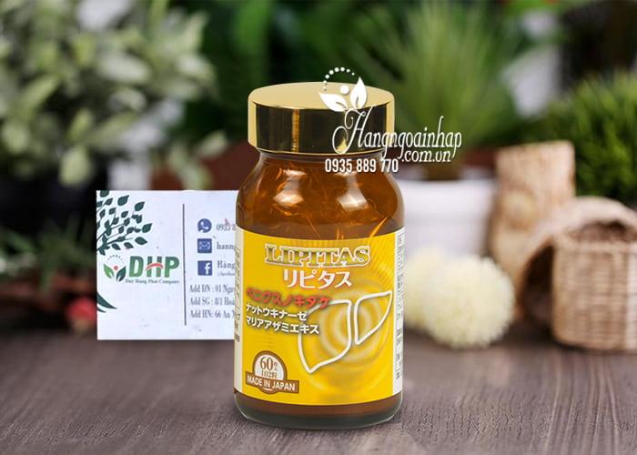 Viên uống giảm mỡ gan, thải độc gan Lipitas JpanWell Nhật 5
