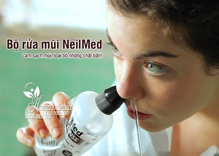 Bộ rửa mũi NeilMed 240ml cùng 5 gói muối cho người lớn 6