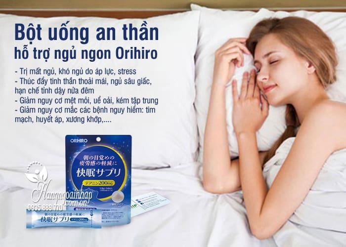 Bột uống an thần, hỗ trợ ngủ ngon Orihiro 14 gói Nhật Bản 1