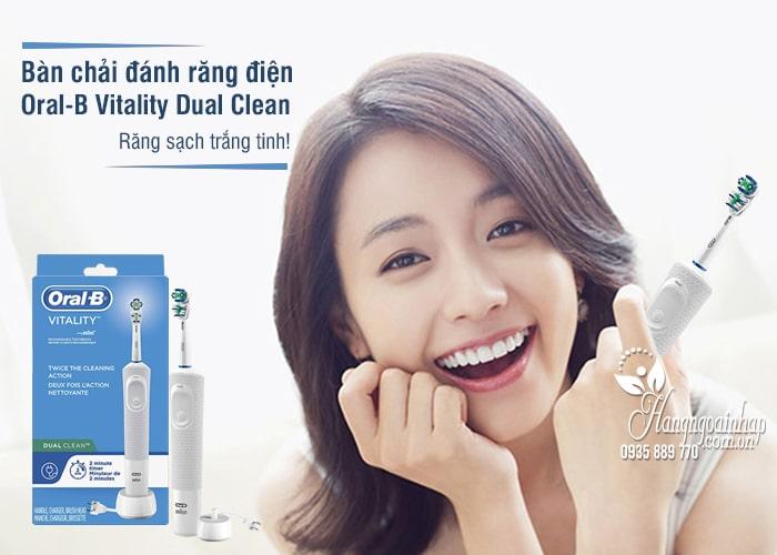 Bàn chải đánh răng điện Oral-B Vitality Dual Clean Mỹ 1