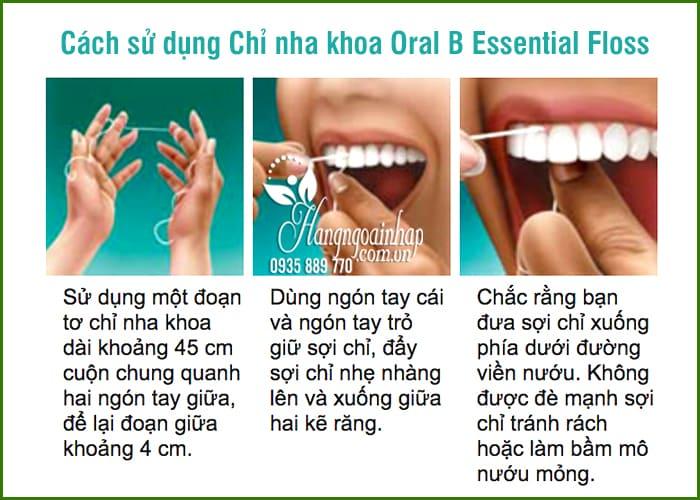Chỉ nha khoa Oral B Essential Floss 50m của Mỹ 9