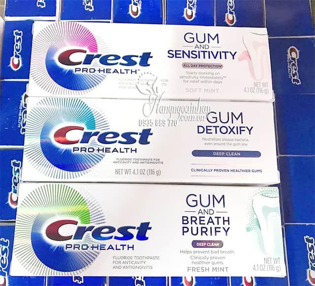 Kem đánh răng Crest Pro-Health Gum Detoxify 116g của Mỹ 7