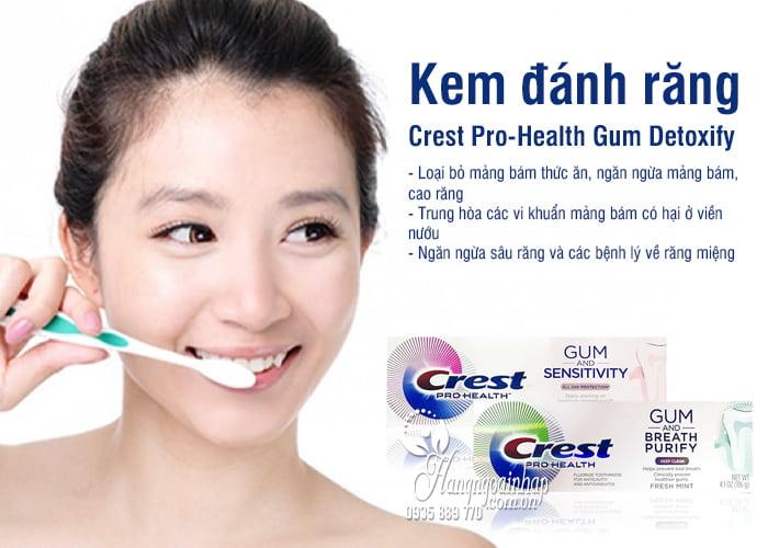 Kem đánh răng Crest Pro-Health Gum Detoxify 116g của Mỹ 3