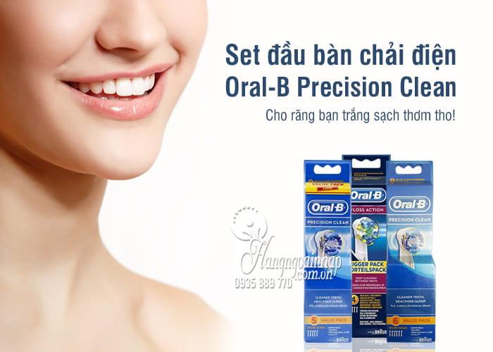 Set đầu bàn chải điện Oral-B Precision Clean - Dùng thay thế 7