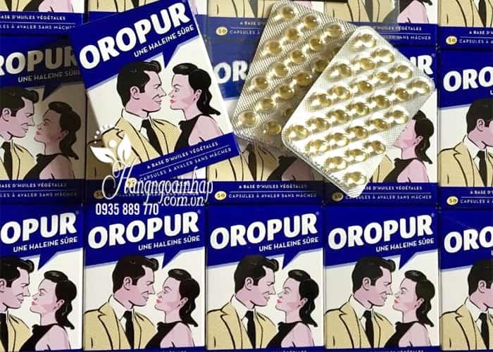 Viên uống thơm miệng Oropur số 1 của Pháp, đặc trị hôi miệng 9