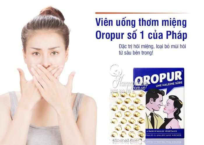 Viên uống thơm miệng Oropur số 1 của Pháp, đặc trị hôi miệng 1