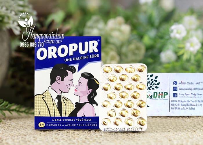 Viên uống thơm miệng Oropur số 1 của Pháp, đặc trị hôi miệng 7