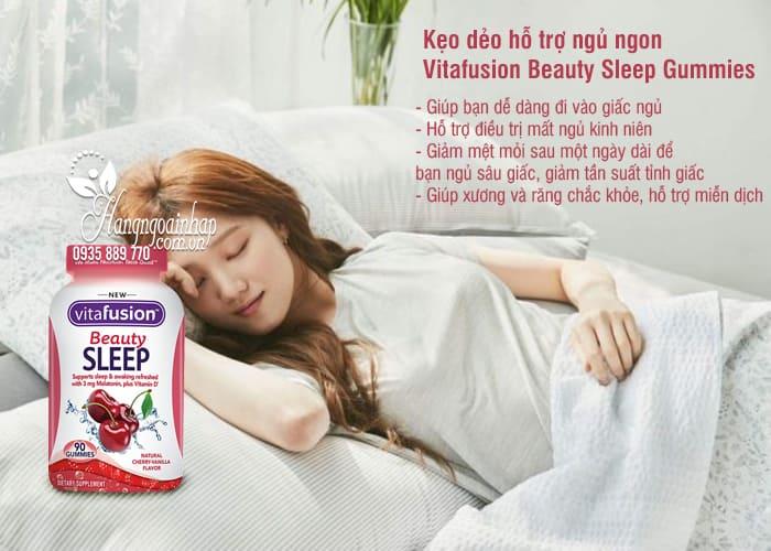 Kẹo dẻo hỗ trợ ngủ ngon Vitafusion Beauty Sleep Gummies 90v 4