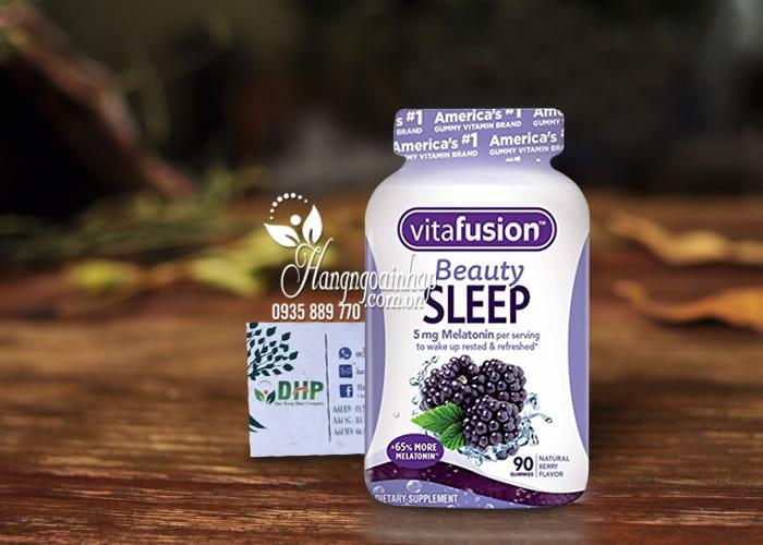Kẹo dẻo hỗ trợ ngủ ngon Vitafusion Beauty Sleep 5mg Melatonin 7