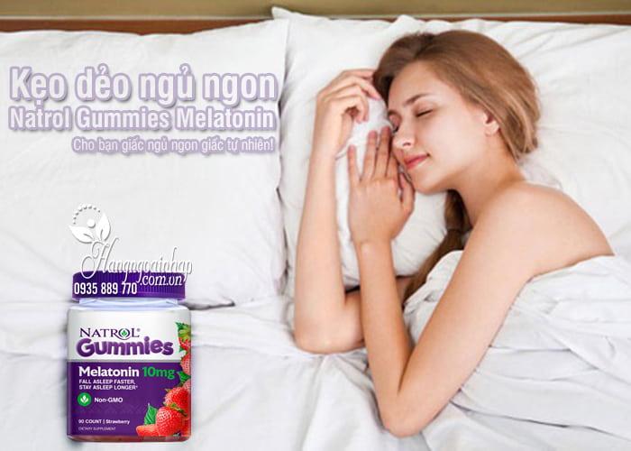 Kẹo dẻo ngủ ngon Natrol Gummies Melatonin 10mg vị dâu của Mỹ 0