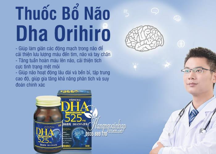 Thuốc Bổ Não Dha Orihiro 525mg 90 Viên chính hãng Của Nhật 5