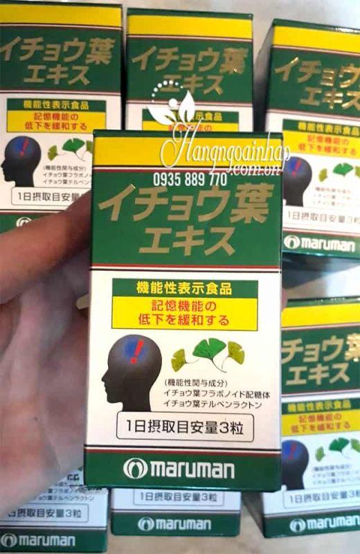 Thuốc bổ não Ginkgo Biloba Maruman tốt nhất của Nhật Bản 2