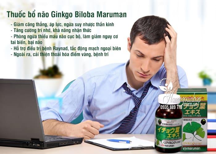 Thuốc bổ não Ginkgo Biloba Maruman tốt nhất của Nhật Bản 3
