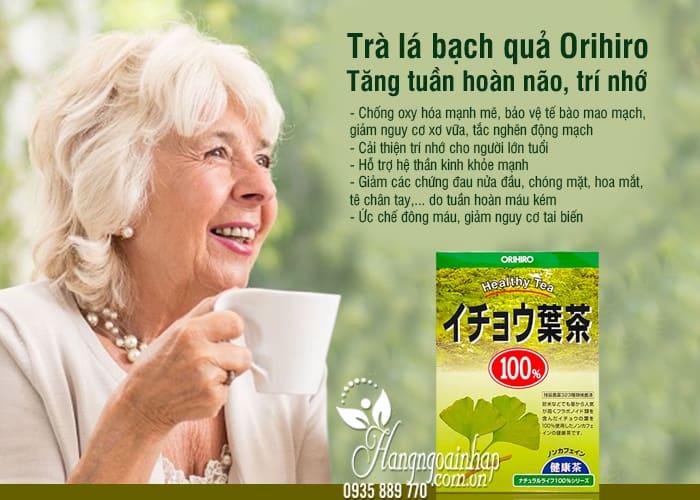 Trà lá bạch quả Orihiro 26 túi lọc - Tăng tuần hoàn não, trí nhớ 5